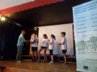 Entrega de premios con el Director del Parque Natural Sª Baza